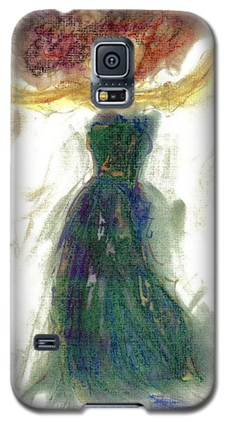 Galaxy S5 Case featuring the painting as if Dancing in Heaven by Lesley Fletcher