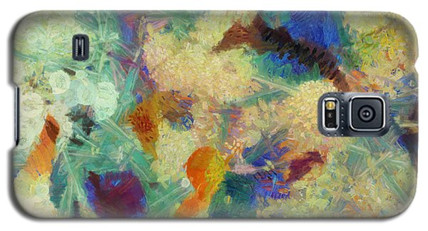 Galaxy S5 Case featuring the painting As Our Eyes Met by Joe Misrasi