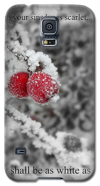 Galaxy S5 Case featuring the photograph As Scarlet by Heidi Manly