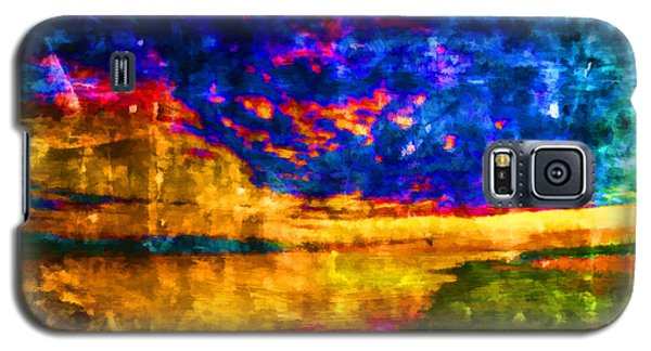 Galaxy S5 Case featuring the painting As The World Ends by Joe Misrasi