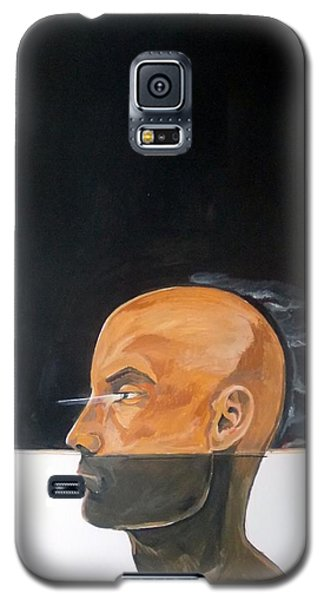 Galaxy S5 Case featuring the painting As Vapor Gutural by Lazaro Hurtado