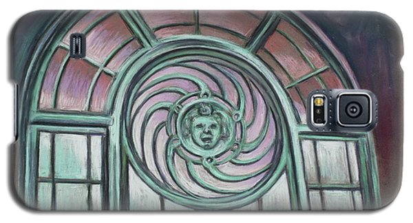 Galaxy S5 Case featuring the painting Asbury Park Carousel Window by Melinda Saminski
