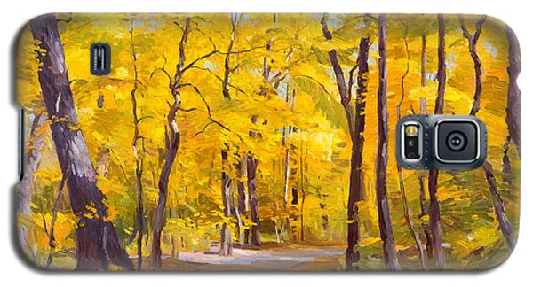 Ash Trees At Fall In The Morton Arboretum Galaxy S5 Case