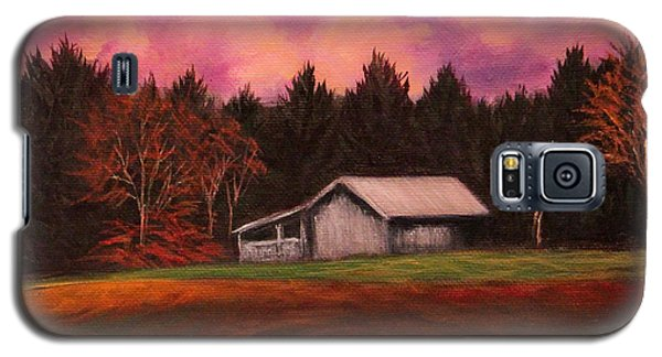 Galaxy S5 Case featuring the painting Asheville Barn by Janet Greer Sammons