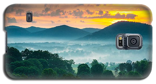 Sunset Galaxy S5 Case - Asheville Nc Blue Ridge Mountains Sunset - Welcome To Asheville by Dave Allen