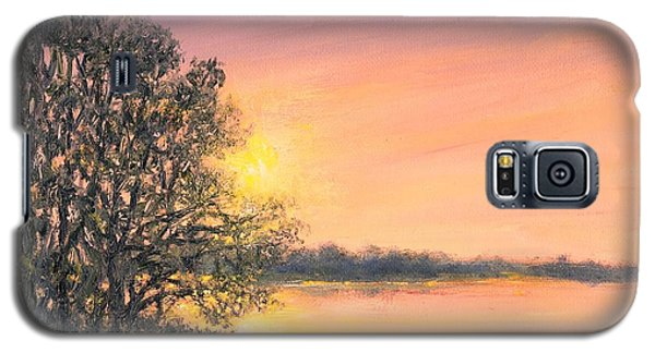 Galaxy S5 Case featuring the painting Ashore At Dusk 2 by Kathleen McDermott