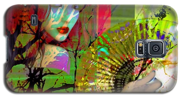 Galaxy S5 Case featuring the digital art Asian Beauty by Diana Riukas