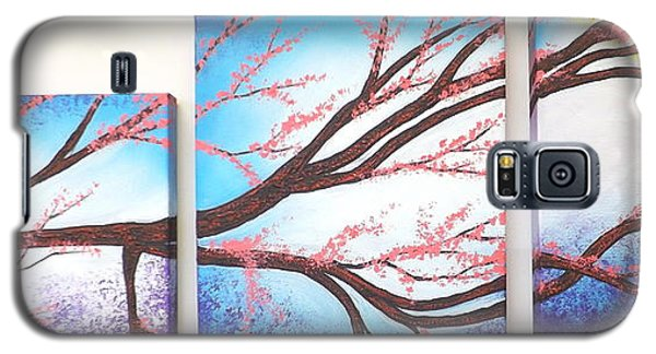 Asian Bloom Triptych Galaxy S5 Case