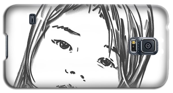 Galaxy S5 Case featuring the drawing Asian Girl by Olimpia - Hinamatsuri Barbu