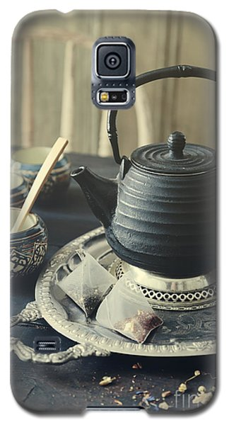 Asian Teapot With Cups And Herbal Bags Of Tea Galaxy S5 Case