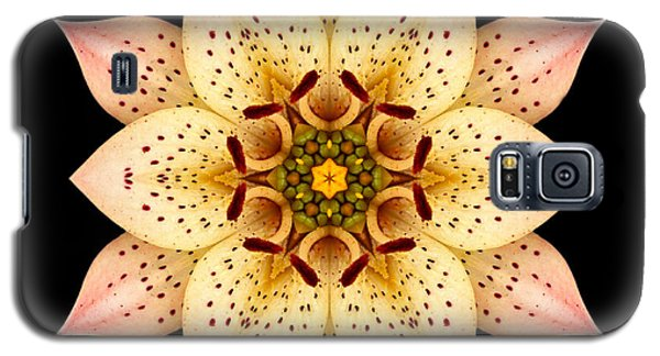 Galaxy S5 Case featuring the photograph Asiatic Lily Flower Mandala by David J Bookbinder