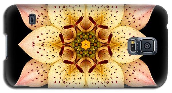 Asiatic Lily Flower Mandala Galaxy S5 Case by David J Bookbinder