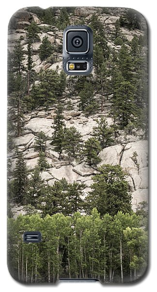 Galaxy S5 Case featuring the photograph Aspen And Rock by Wayne Meyer