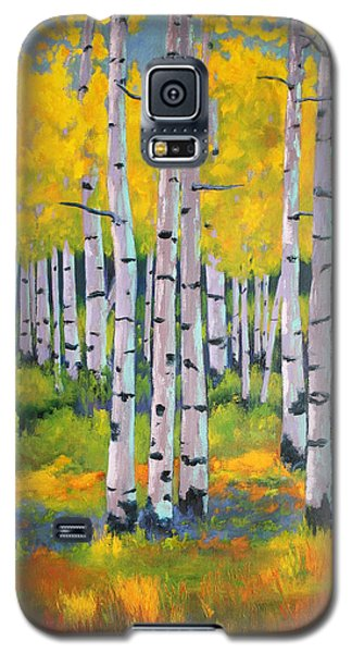 Galaxy S5 Case featuring the painting Aspen Color by Nancy Jolley