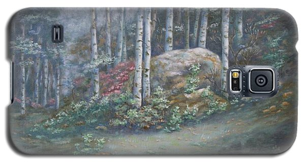 Galaxy S5 Case featuring the painting Aspen Grove by Roena King