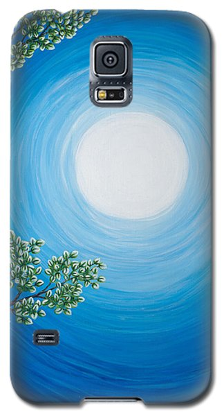 Aspen Moon 2 Triptych Galaxy S5 Case by Rebecca Parker