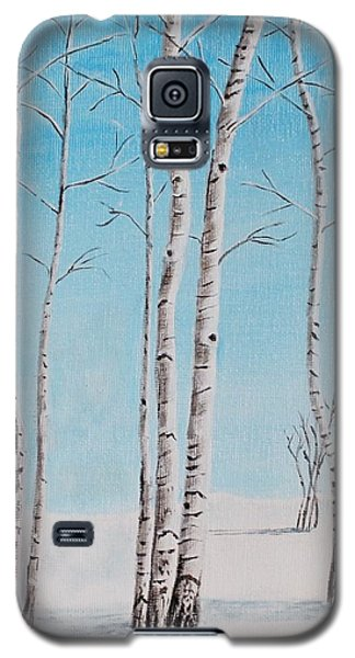 Aspens In Snow Galaxy S5 Case by Melvin Turner