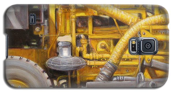 Galaxy S5 Case featuring the painting Asphalt Paving Equipment by Donelli  DiMaria