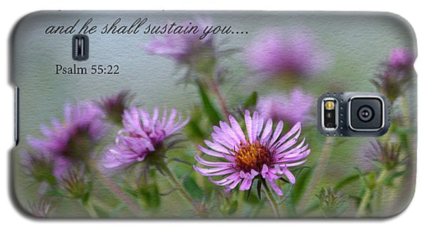 Asters With Scripture Galaxy S5 Case