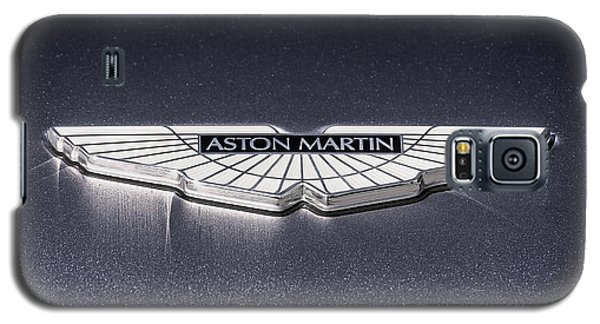 Galaxy S5 Case featuring the digital art Aston Martin Badge by Douglas Pittman