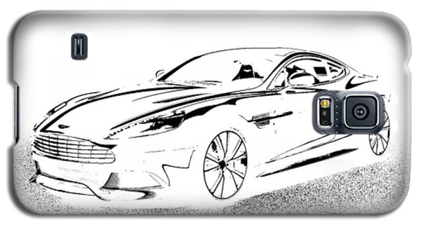 Galaxy S5 Case featuring the digital art Aston Martin by Rogerio Mariani