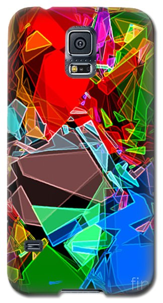 Galaxy S5 Case featuring the digital art Astratto - Abstract 52 by Ze  Di