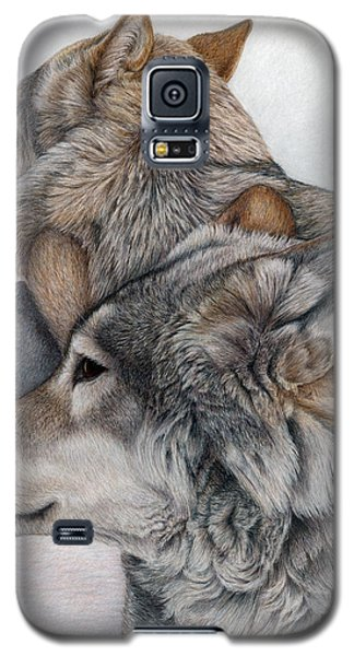 Galaxy S5 Case featuring the painting At Rest But Ever Vigilant by Pat Erickson