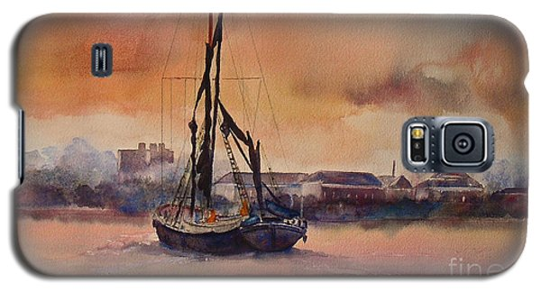 Galaxy S5 Case featuring the painting At Rest On The Thames London by Beatrice Cloake