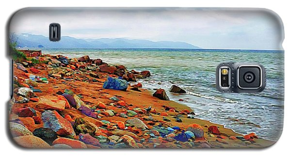 Galaxy S5 Case featuring the photograph At The Beach In Puerto Vallarta by John  Kolenberg