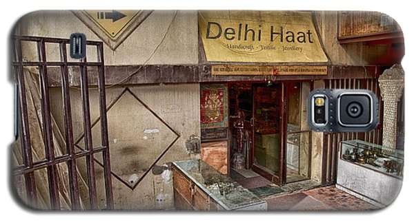 Galaxy S5 Case featuring the digital art At The Delhi Haat Market by John Hoey