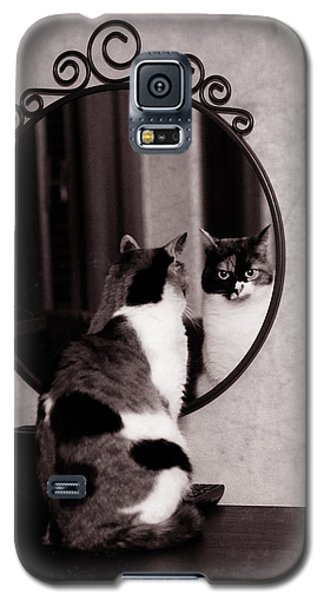 At The Mirror Galaxy S5 Case by Laura Melis