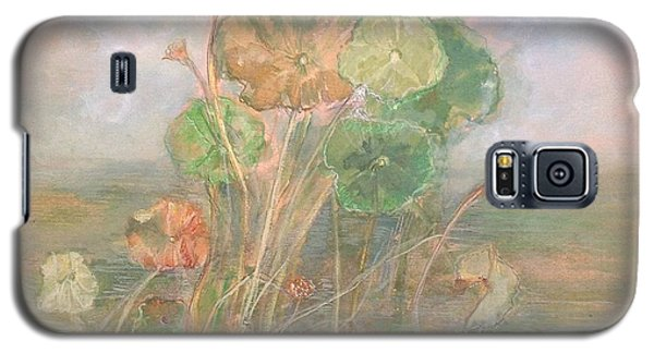 Galaxy S5 Case featuring the painting At The Pond by Delona Seserman