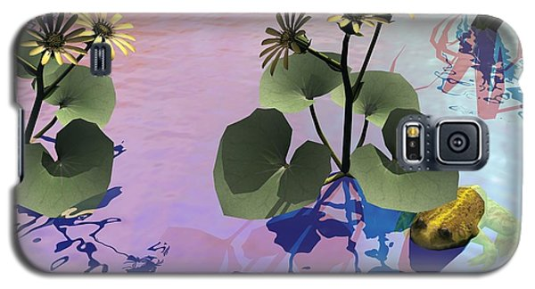 Galaxy S5 Case featuring the digital art At The Pond by John Pangia