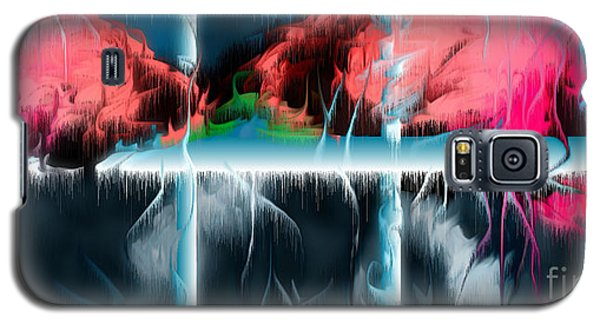 Galaxy S5 Case featuring the digital art At The Time Of Disappearance by Leo Symon