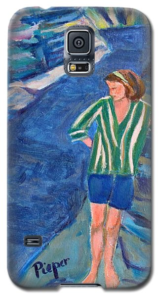 Galaxy S5 Case featuring the painting At Wintergreen Park Canajoharie 1957 by Betty Pieper