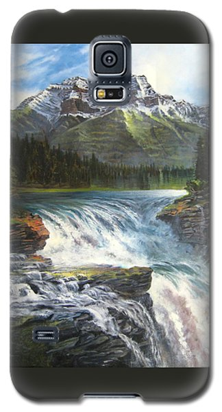 Athabasca Falls Galaxy S5 Case by LaVonne Hand