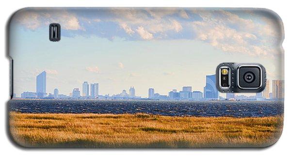 Atlantic City Skyline From Salt Marsh Galaxy S5 Case