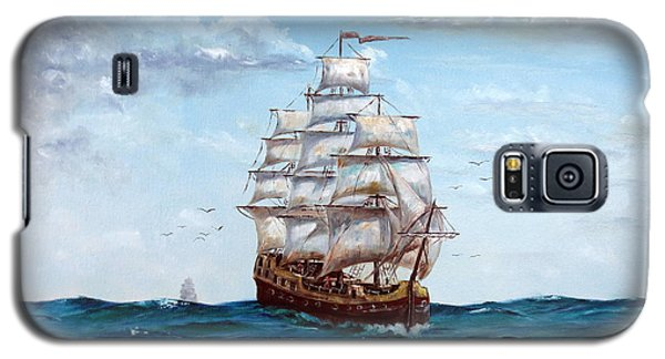 Galaxy S5 Case featuring the painting Atlantic Crossing  by Lee Piper
