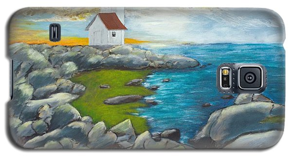 Galaxy S5 Case featuring the painting Atlantic Dusk by Cynthia Morgan