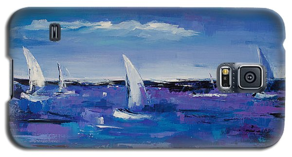Galaxy S5 Case featuring the painting Au Gre Du Vent by Elise Palmigiani