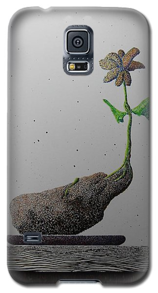 Galaxy S5 Case featuring the painting Au Paired by A  Robert Malcom