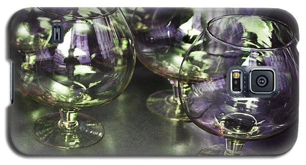 Aubergine Paris Wine Glasses Galaxy S5 Case