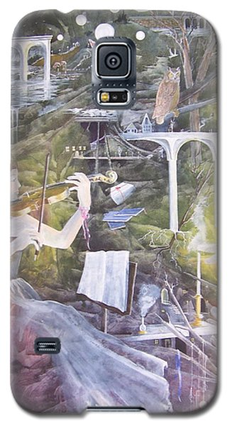 Galaxy S5 Case featuring the painting Aubry's Nocturne by Jackie Mueller-Jones