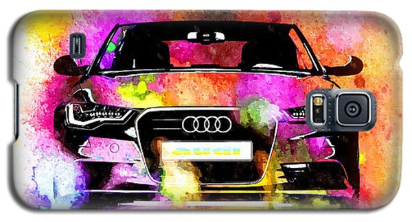 Audi A6 Avant Watercolor Galaxy S5 Case by Daniel Janda