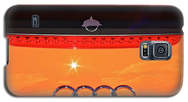 Galaxy S5 Case featuring the photograph Audi Orange by Linda Bianic