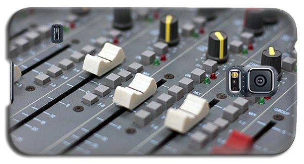 Galaxy S5 Case featuring the photograph Audio Mixing Board Console by Gunter Nezhoda