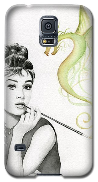Magician Galaxy S5 Case - Audrey And Her Magic Dragon by Olga Shvartsur