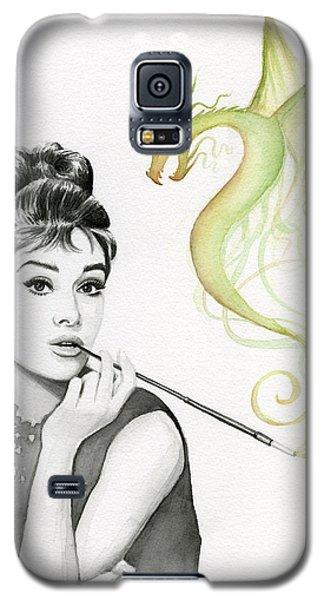 Dragon Galaxy S5 Case - Audrey And Her Magic Dragon by Olga Shvartsur