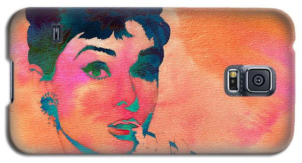Galaxy S5 Case featuring the painting Audrey Hepburn 1 by Brian Reaves