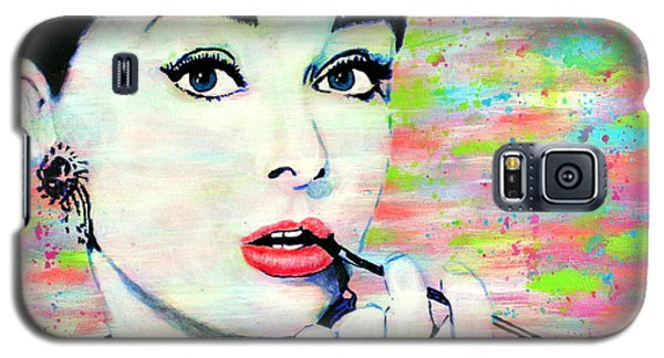 Audrey Hepburn Art Breakfast At Tiffany's Galaxy S5 Case